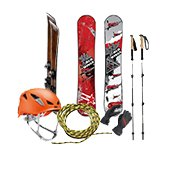 Ski and climbing equipment